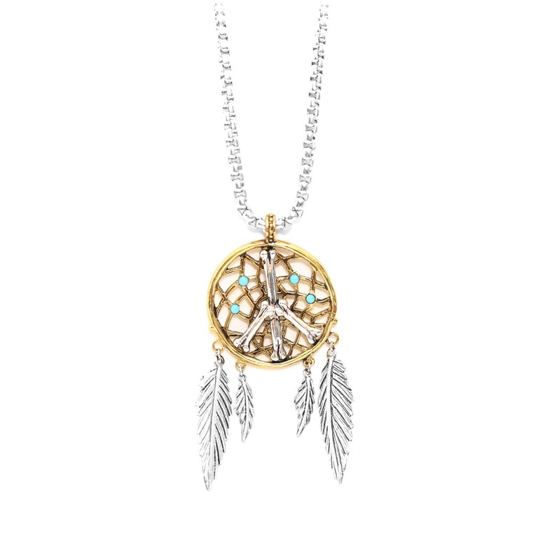Dream Catcher Necklace Silver/gold