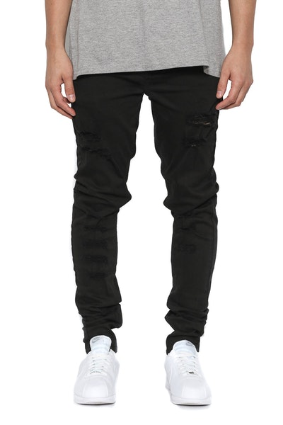 Thrashed Distresed Skinny Jean Black Wash