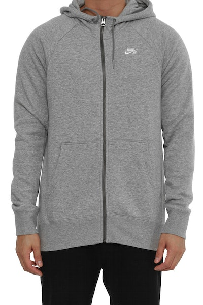 Icon Full-zip Hood Grey/white