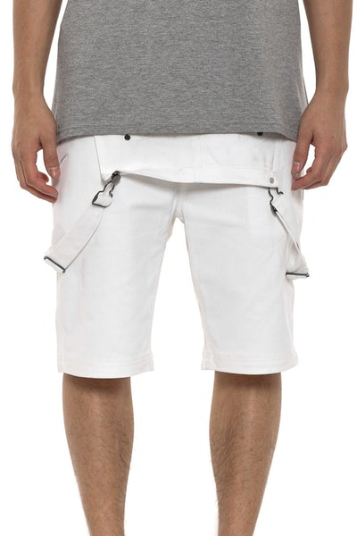 Aaden Overall Short White