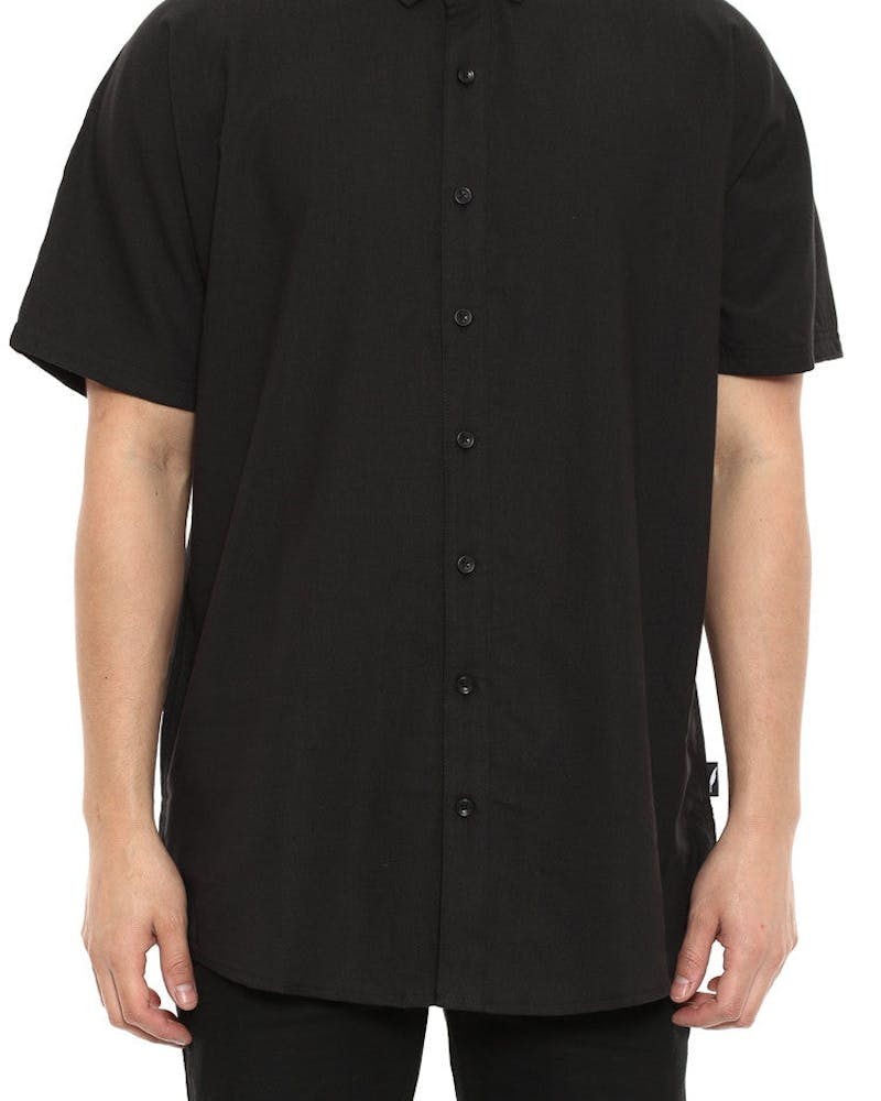 Galo Short Sleeve Button up Black