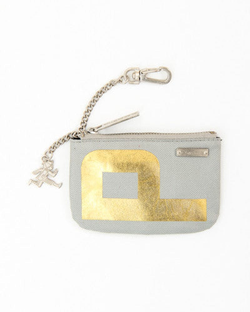 Phodium Coin Pouch Grey/gold