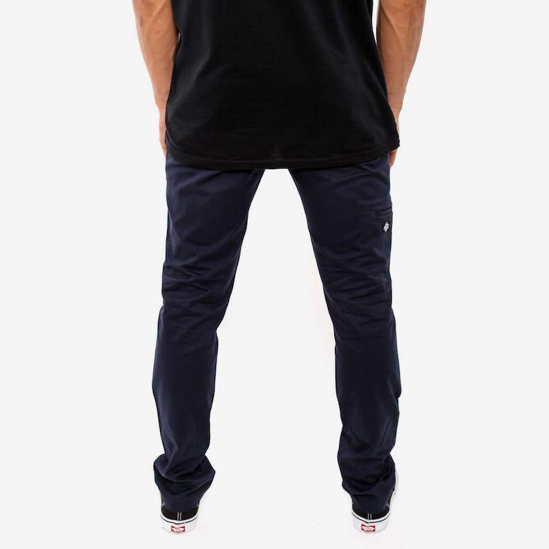 Double Knee Skinny Slim Navy