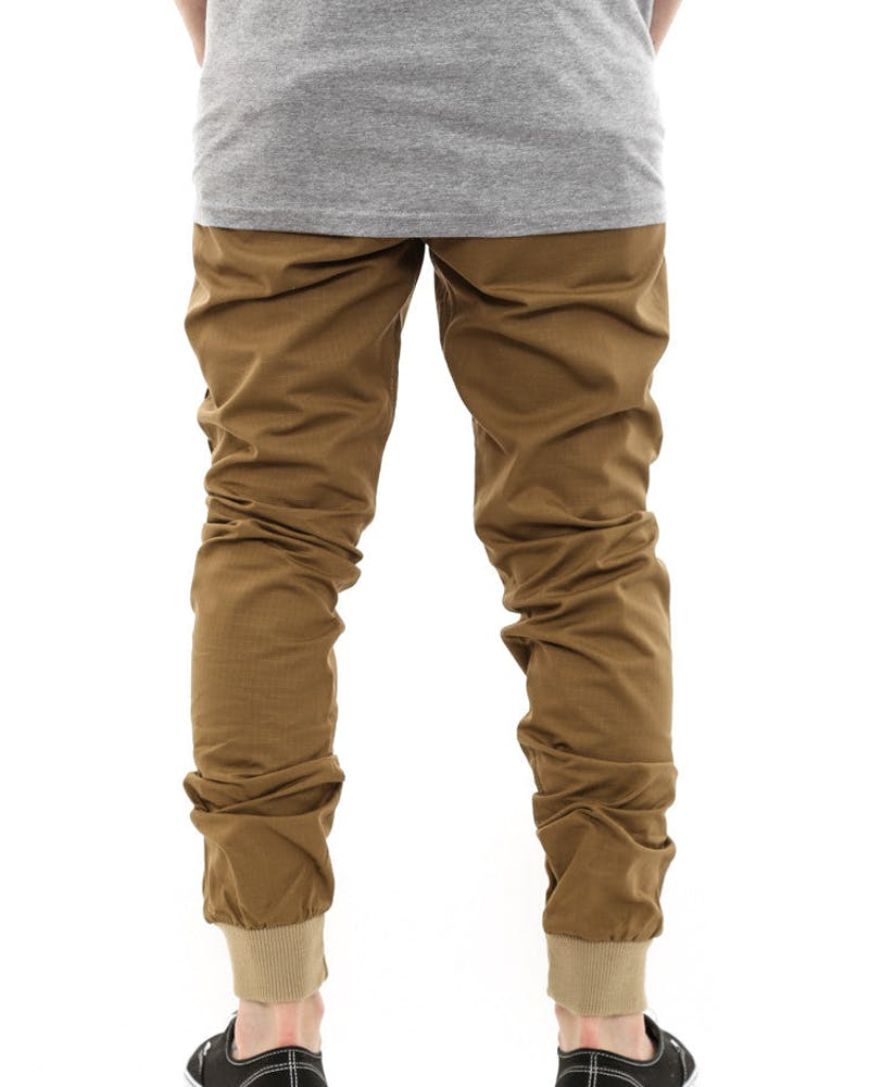 Jogger Fit Ripstop Brown