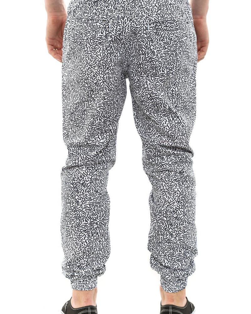 Scribble Cuff Pants White