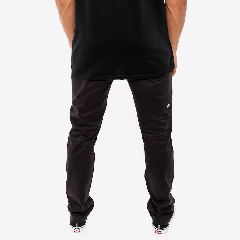 Double Knee Skinny Slim Black