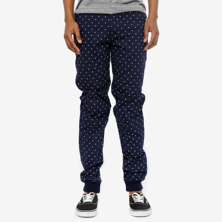 Giusepp Cuffed Chino Blue/white/silv