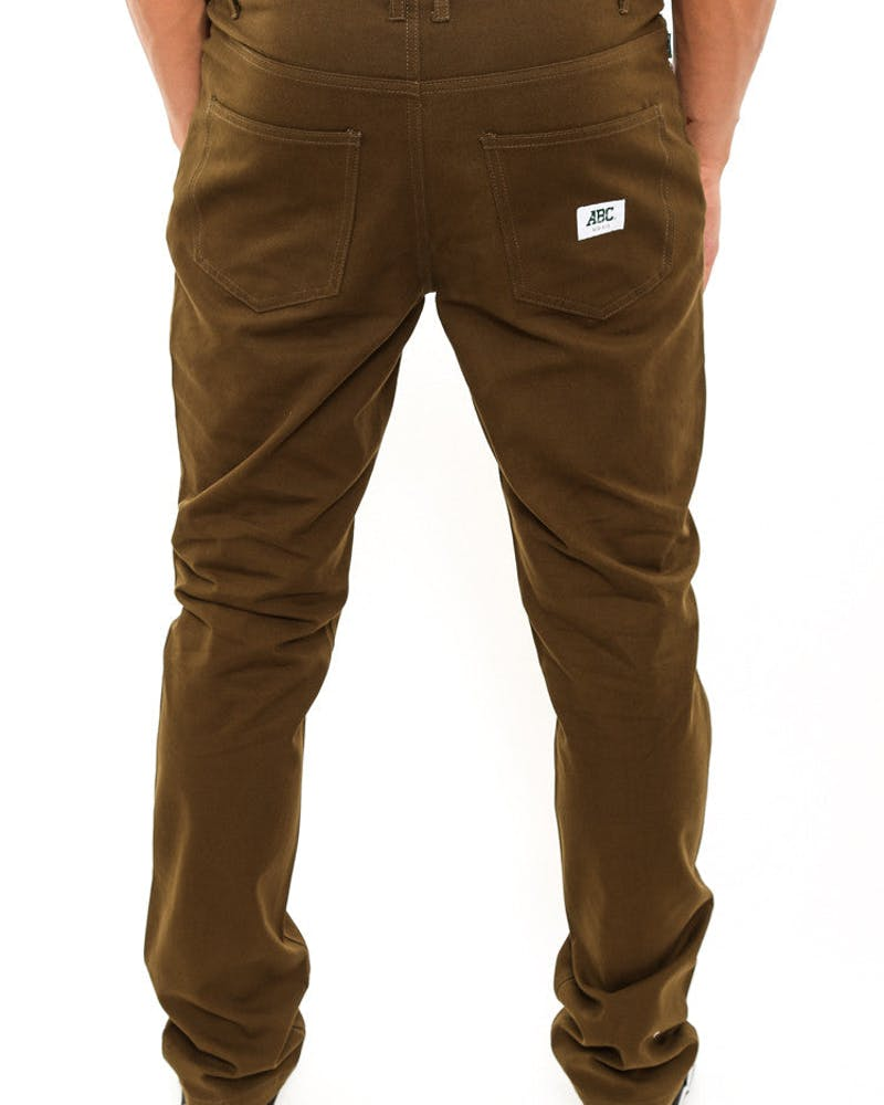 Canvas Daily Pant Army Green/brow