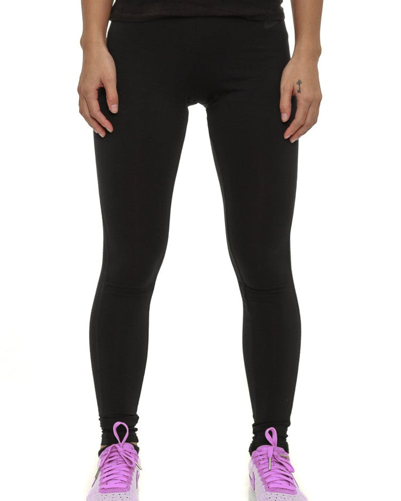 Women's Bonded Mesh Leggings Black/black