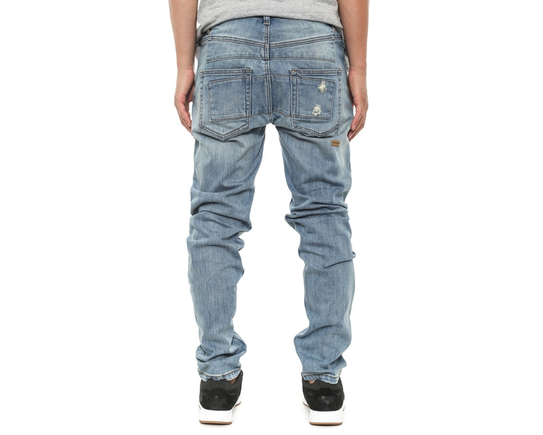 Stooge Jean K Smashed Distress Blue