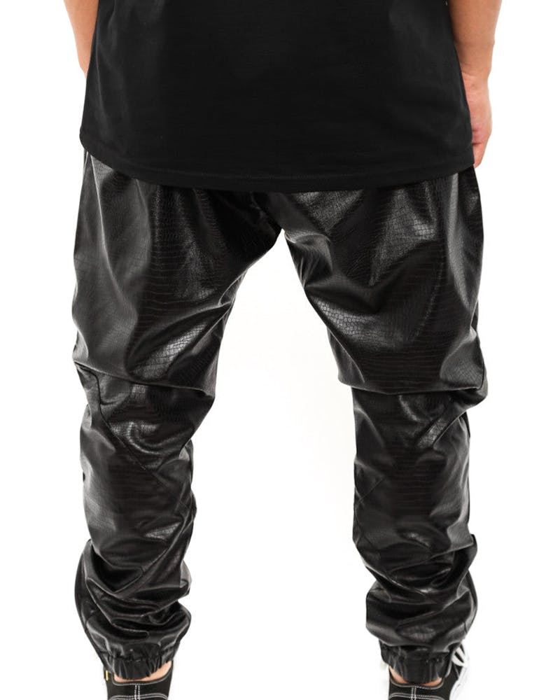 Leatherette Snake Pants Black/snake