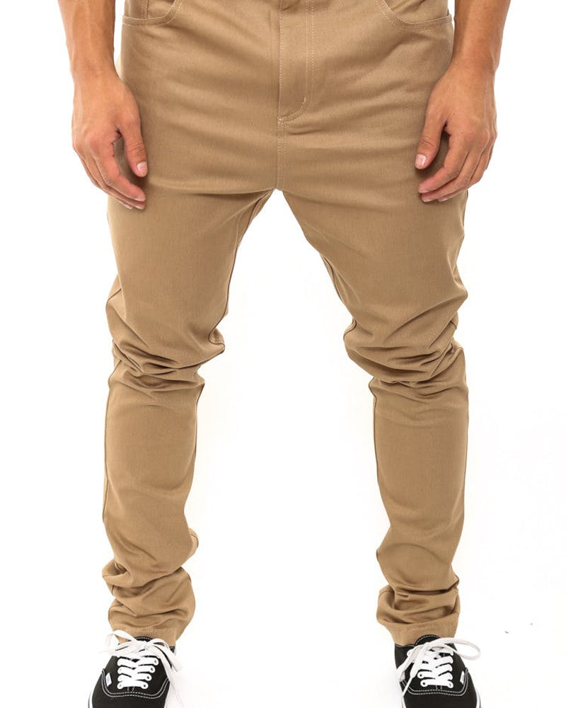 Dropper Jeans Tan