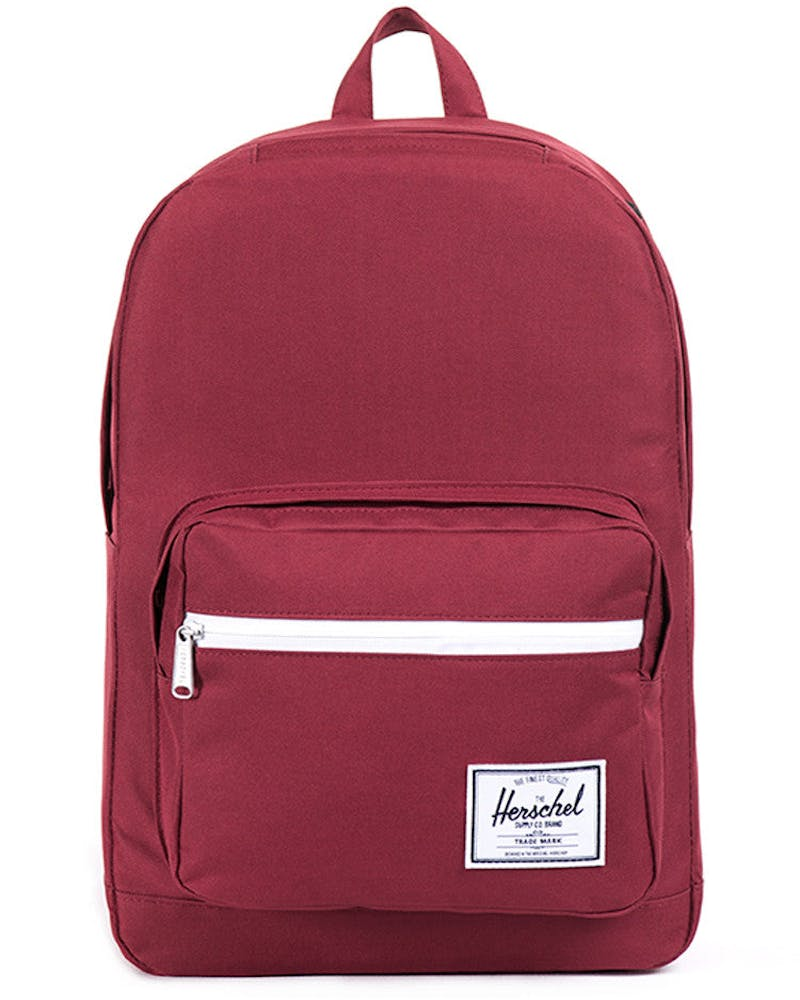 Pop Quiz Backpack Burgundy/white