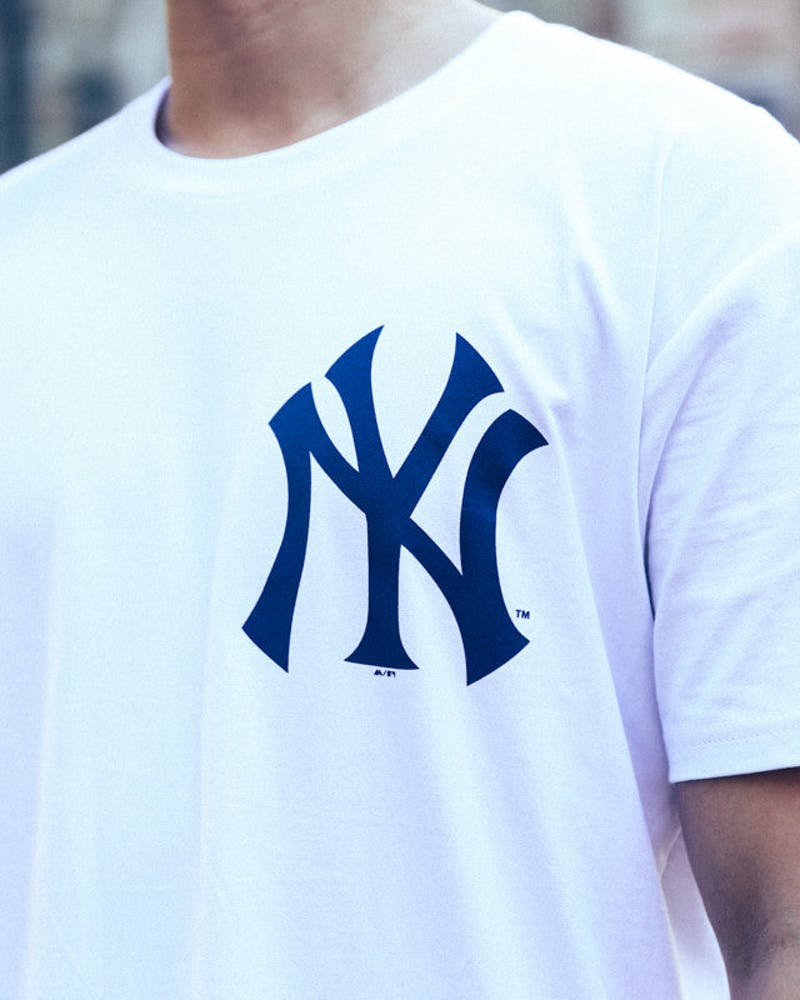 New York Remic Long Line Tee White