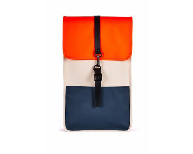 Rains Backpack Blue/orange/cream