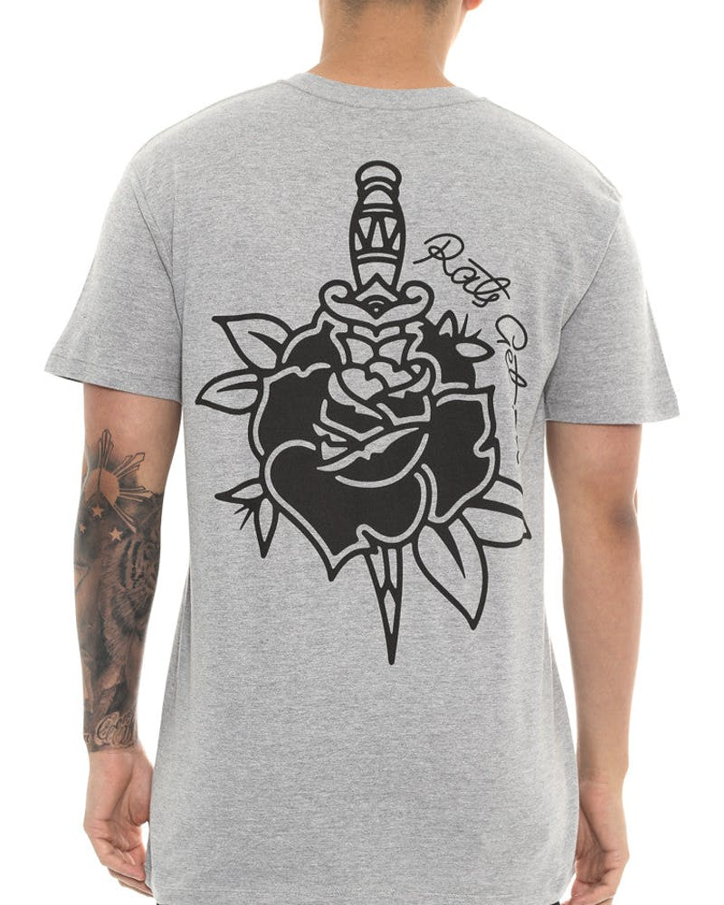 Rose & Dagger Tee Grey