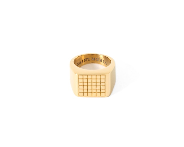 Grid Ring Gold