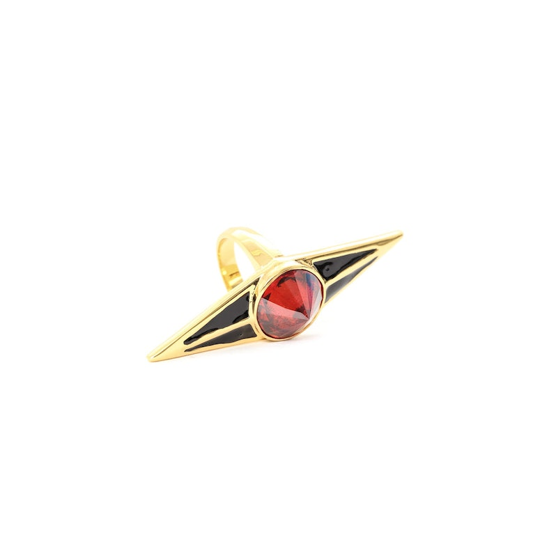 the Protector Ring Gold/red