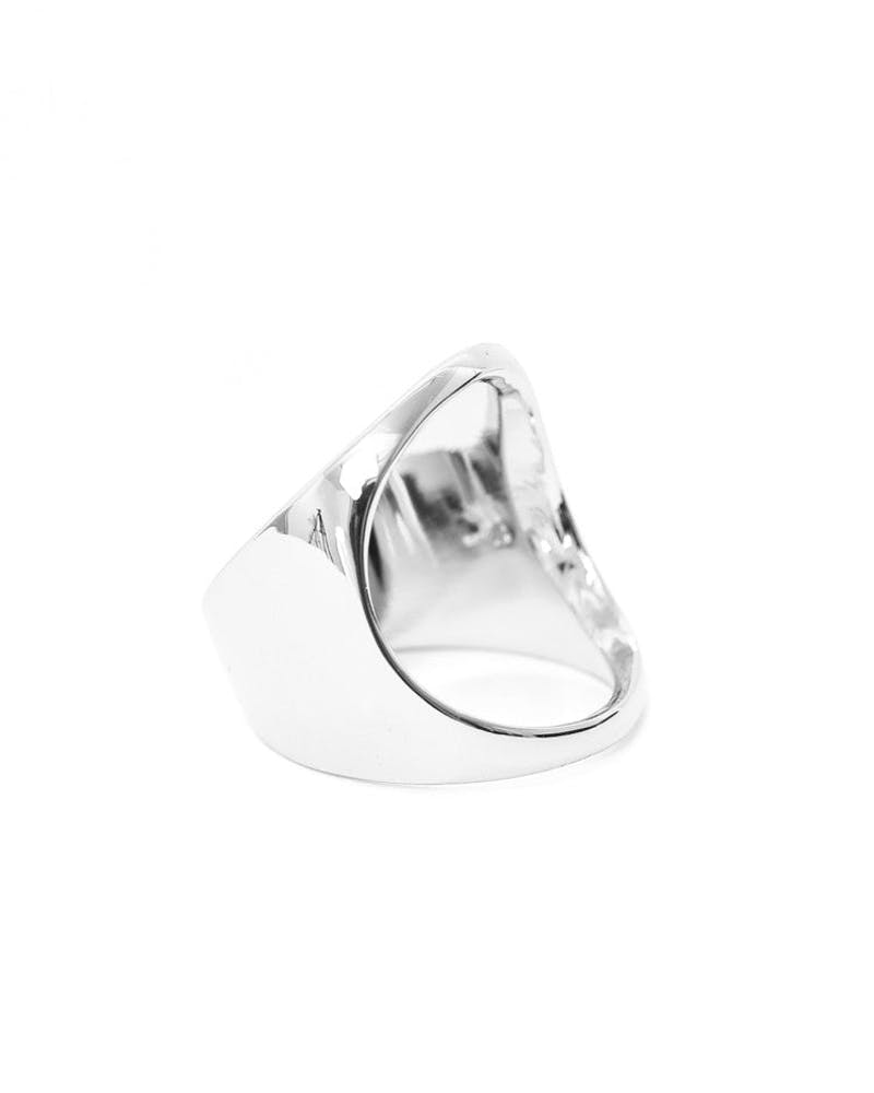 Open Space Ring Silver/black