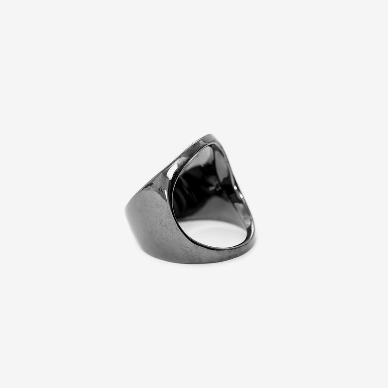 Open Space Ring Gunmetal