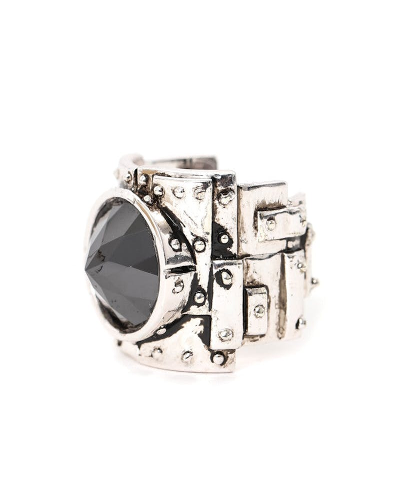 Heavy Metal Ring Silver/black