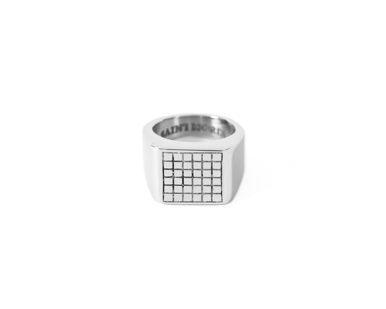 Grid Ring Silver