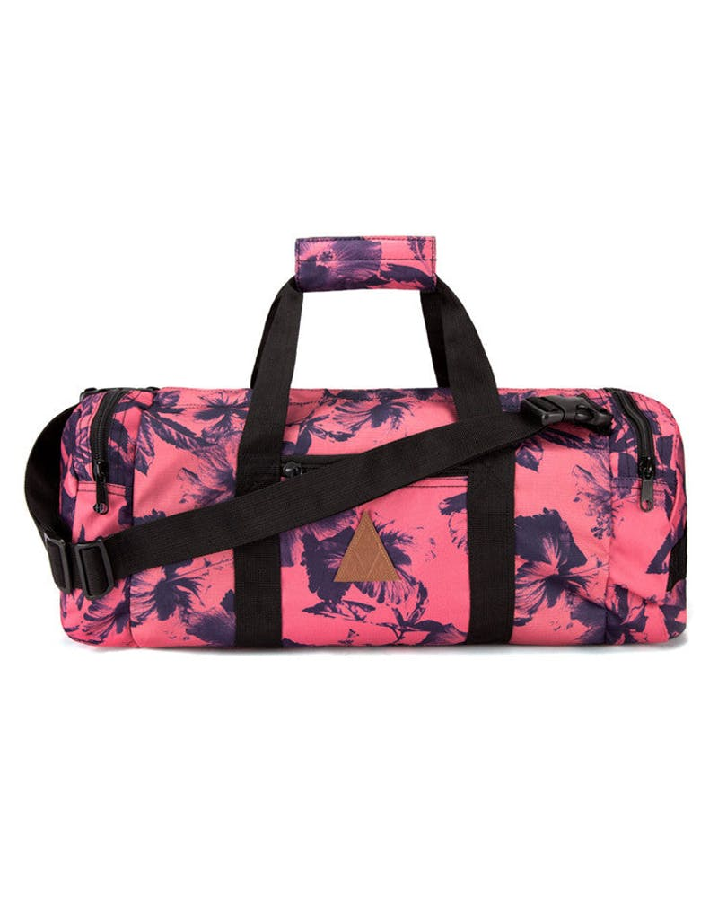 Floral Duffle Bag Salmon