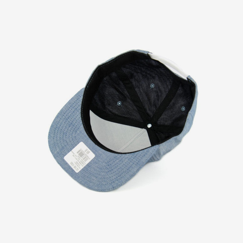 Chambray Box Logo Snapback Navy