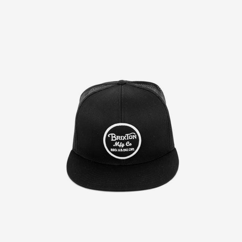 70ebdf25aa5 Brixton Wheeler Mesh Cap Black black – Culture Kings