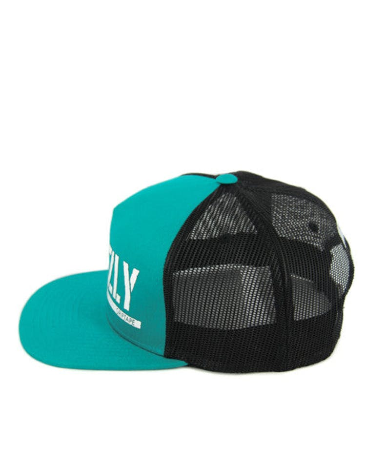 Bear Stamp Trucker Snapback Teal