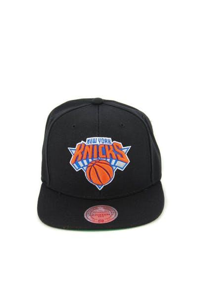 new style b8808 807ab New York Knicks Wool Solid Snapback Black ...