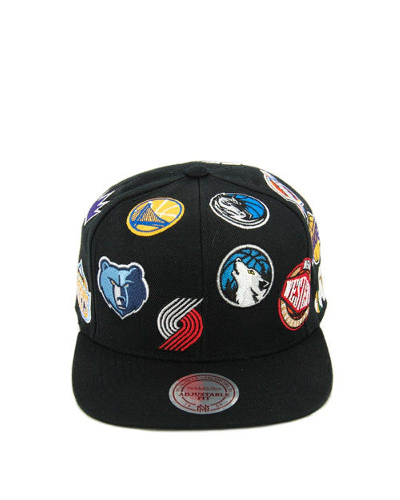 Western All Over Logo Snapback Black