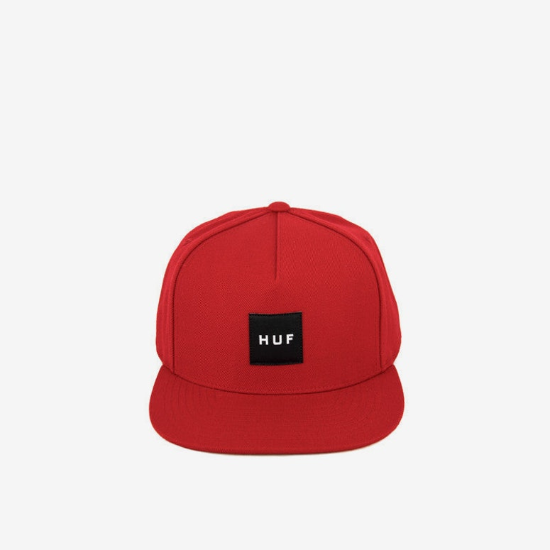 Box Logo 16 Snapback Red