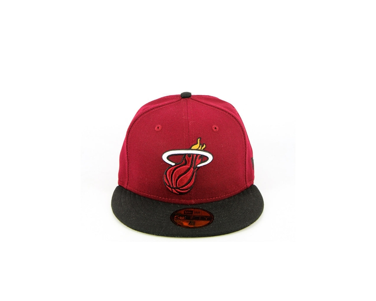 Miami Heat Fashion Fitted Maroon/black
