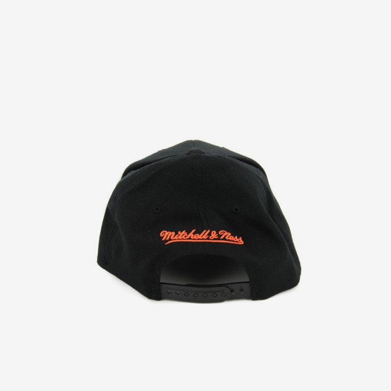Ducks 110 Logo Curved Snapback Black