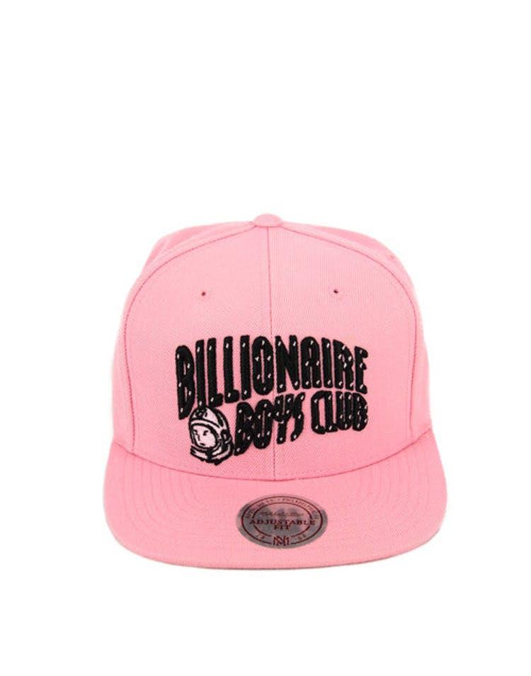 d7cda59bf5499 Billionaire Boys Club Arch Logo Snapback Pink black – Culture Kings