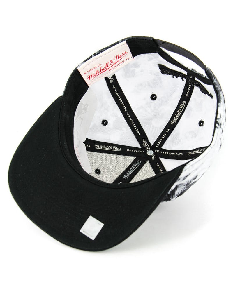 Nets Exposed Snapback Black/white Flo