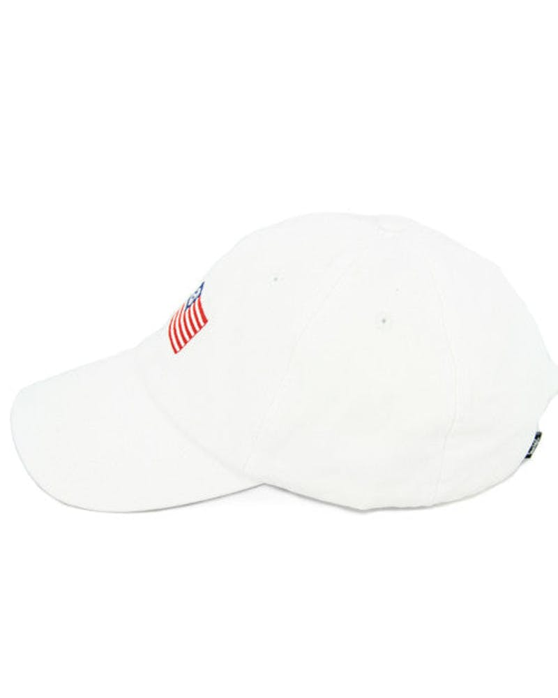 Flag Strapback White