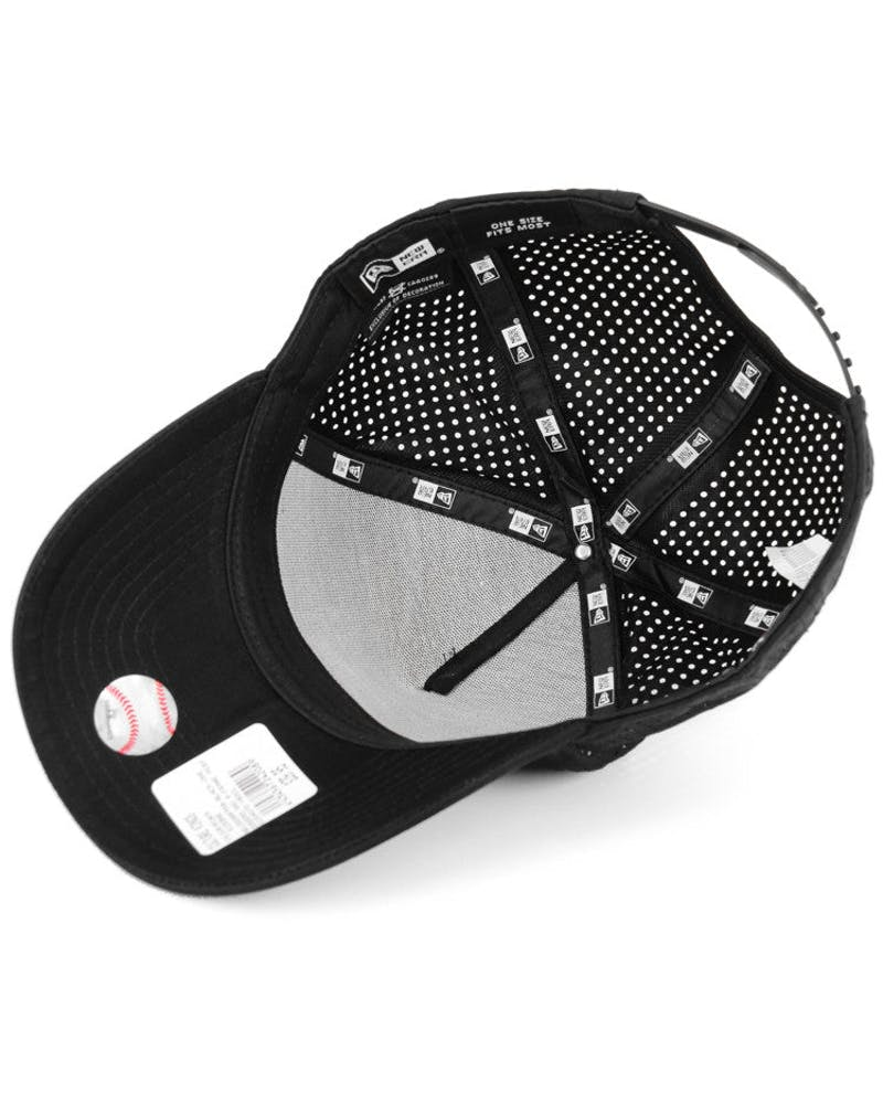 New Era Dodgers 9FORTY A-Frame Perf Snapback Black