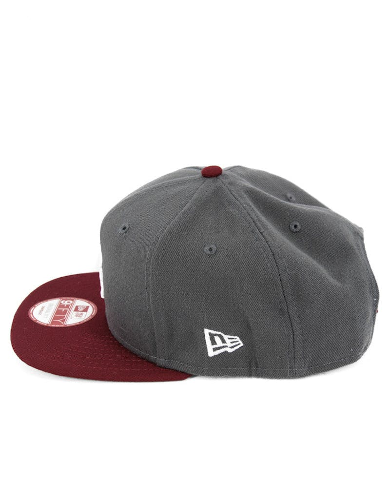 Dodgers Original Fit Snapback Charcoal/burgun