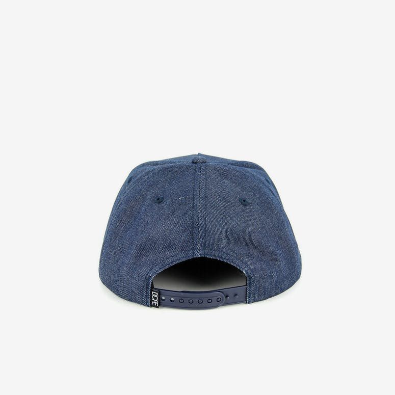 Square Logo Metal Snapback Denim