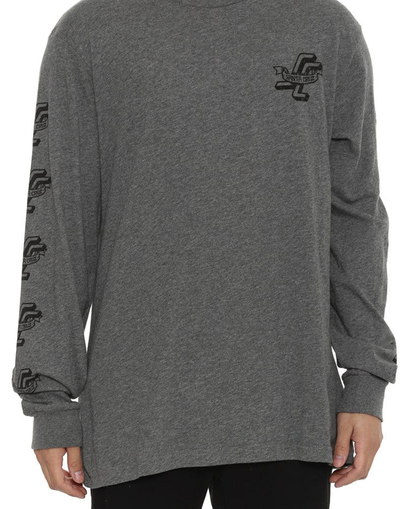 Praying Hands Long Sleeve Tee Grey