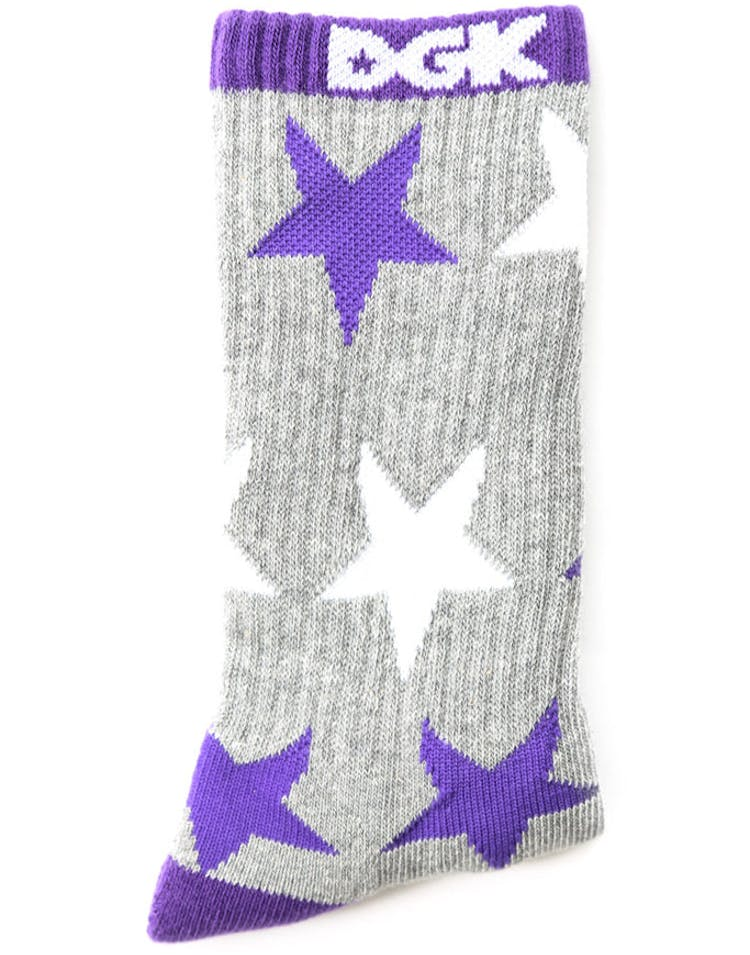Shooter Sock Grey/purple