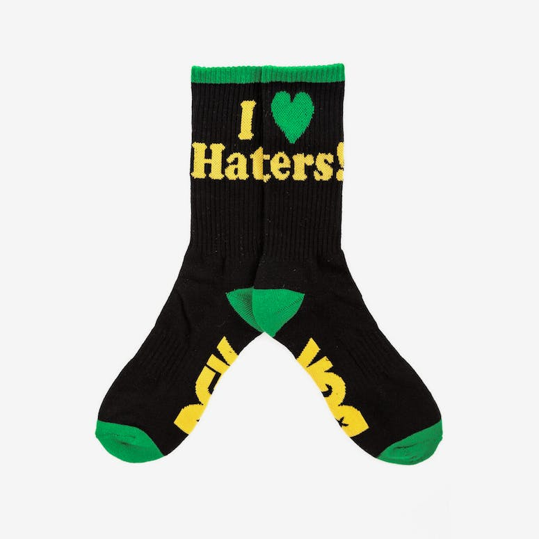 Haters Sock Black/yellow/gr