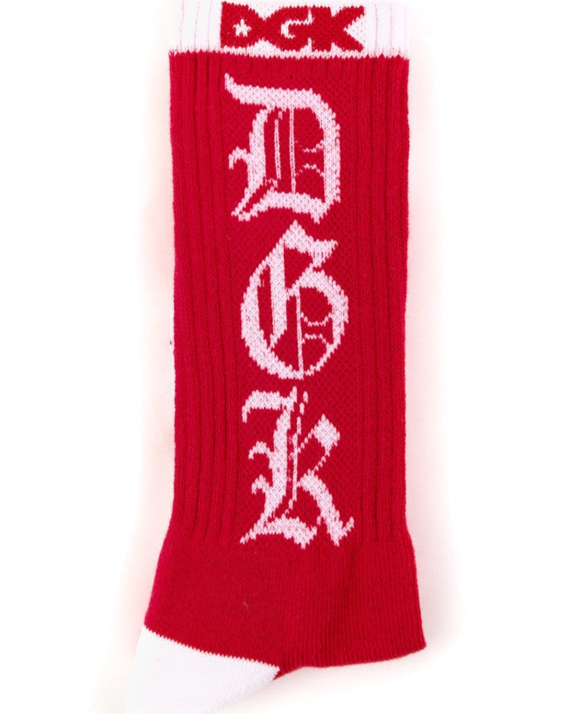 Dime Sock Red/white