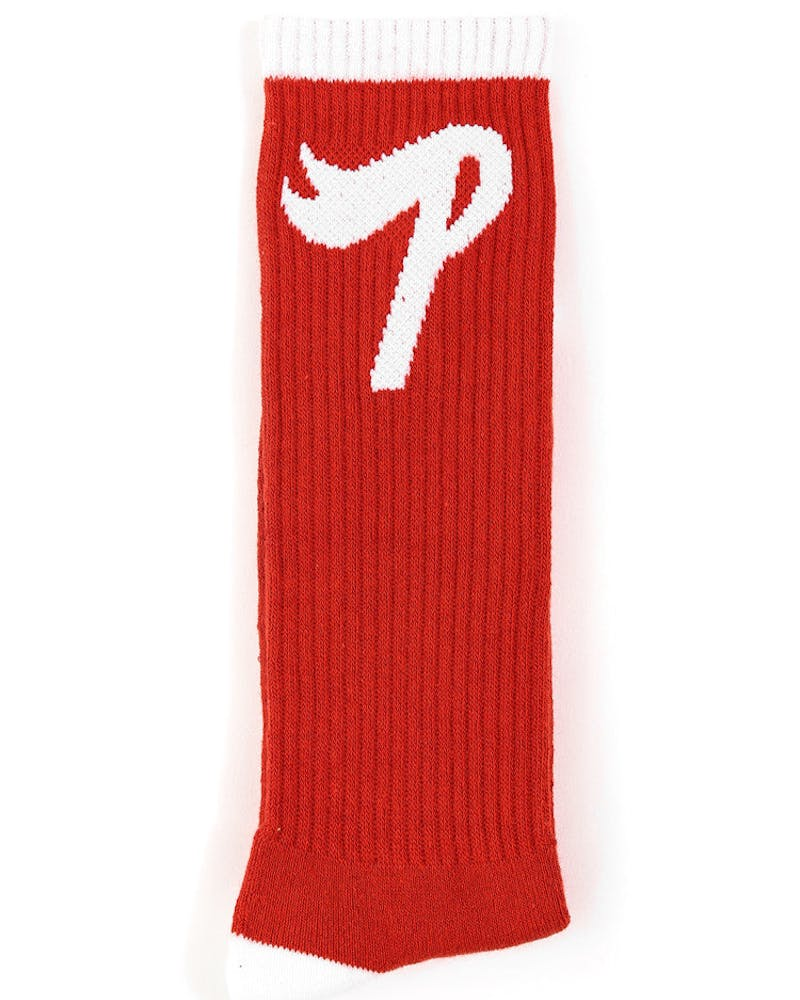P Logo Socks Fall 2013 Red