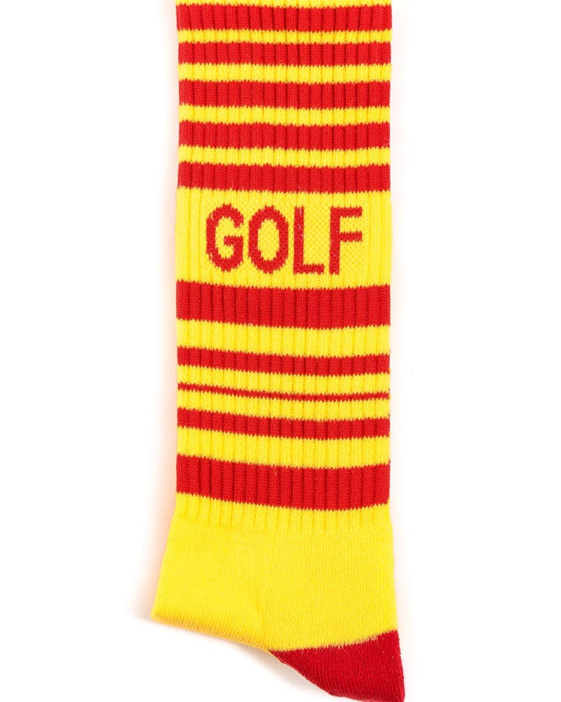 Striped Hockey Sock Yellow