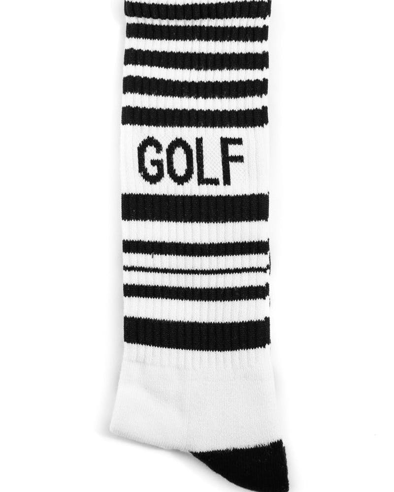 Striped Hockey Sock White