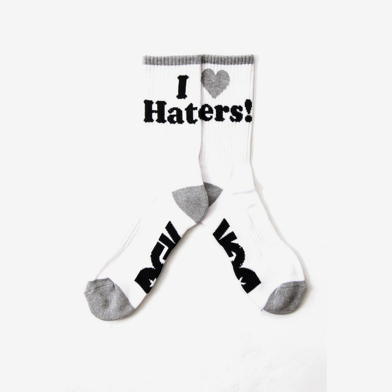 Haters Sock White/grey/blac