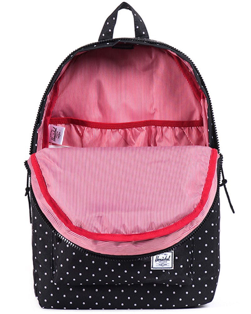Settlement Polkadot Bpack Black/white
